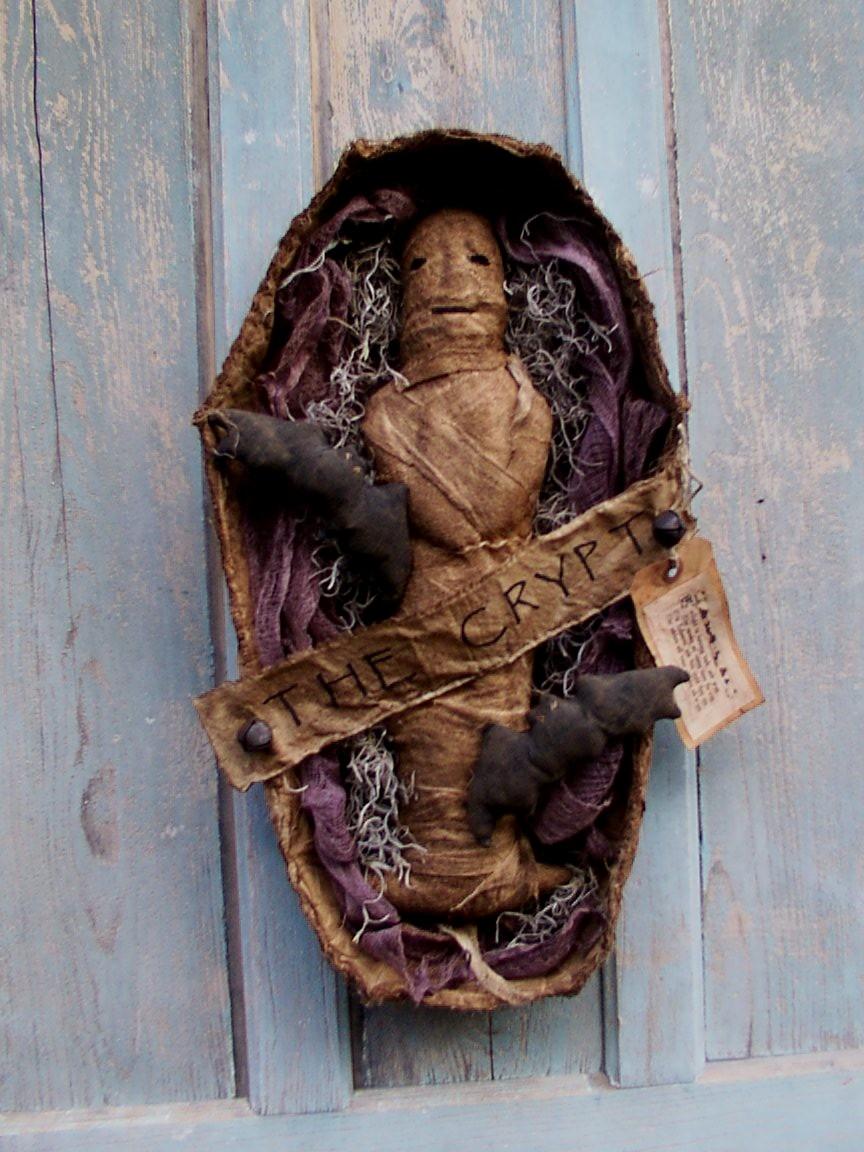 Mummy in Crypt Halloween / Fall Pattern