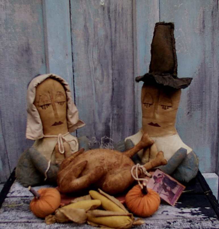 Saying Grace Thanksgiving / Fall Pattern
