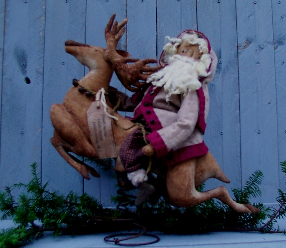 Up Up and Away - Santa & Reindeer Pattern