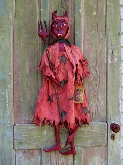 Devil Woman Halloween / Fall Pattern