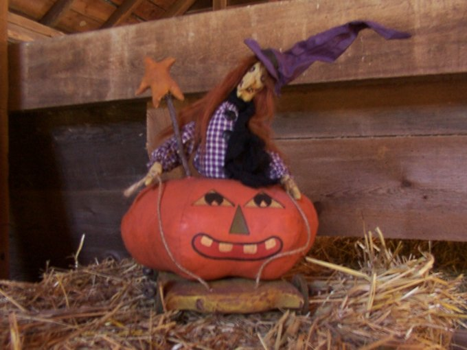 Lily & her Pumpkin Coach Halloween / Fall Pattern