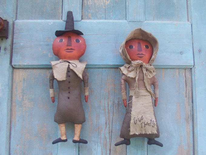 Pumpkin Pilgrims Halloween / Fall Pattern