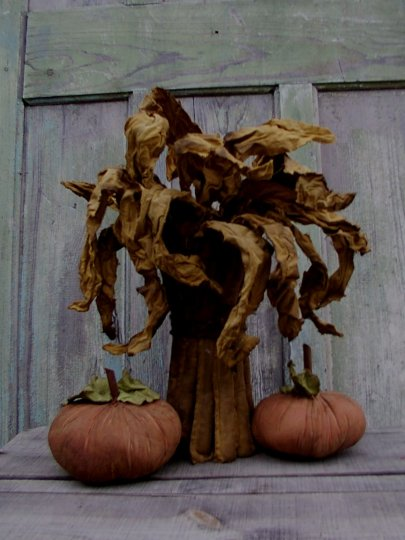 Grubby Cornstalks & Pumpkins Halloween / Fall Pattern