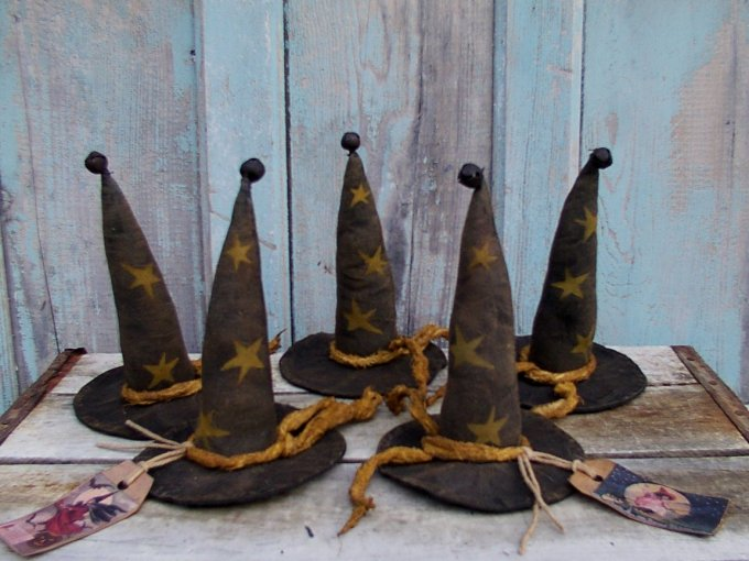 Lil' Witchy Hats Halloween / Fall Pattern
