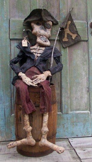 Ghost Skeleton Pirate Halloween / Fall Pattern
