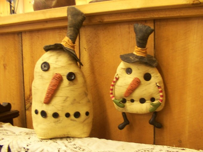 Primitive Snow People Pattern