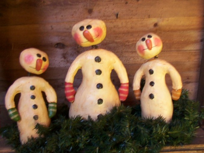 Snow Family Nodders Pattern