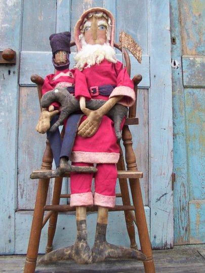 Santa & his Toy Soldier Pattern